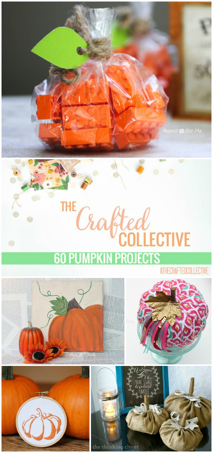 60 Beautiful Pumpkin Projects--From home decor to party favors, awesome pumpkin ideas from across the web! www.pitterandglink.com
