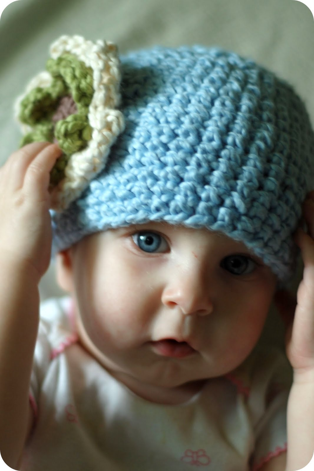 Free Crochet Flower Patterns For Baby Hats : The Sitting Tree: Free Crochet Pattern: Organic Cotton ...
