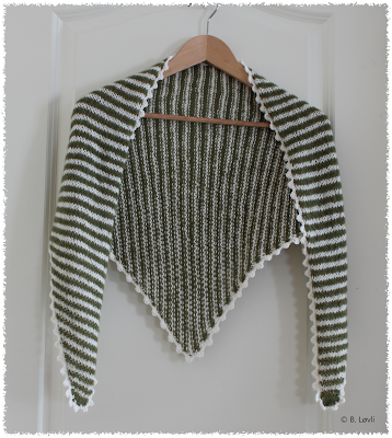 Grønnstripet Luxus Sjal