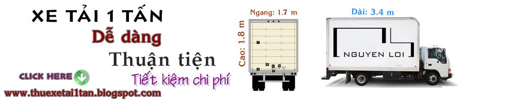 Cho thuê xe tải 1 tấn chở hàng đi tỉnh