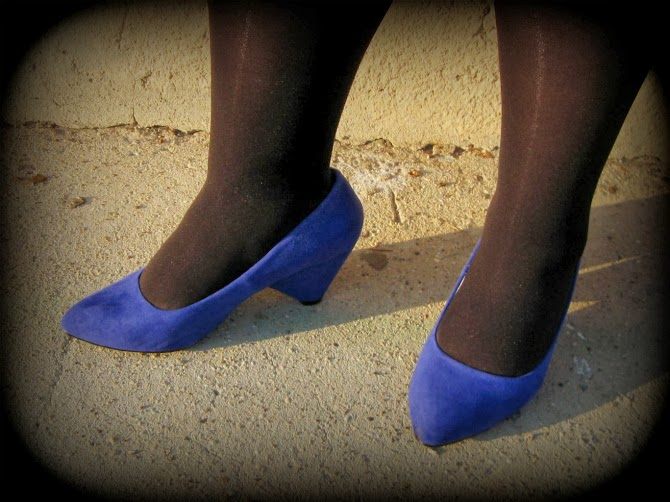 scarpe blu a pianta larga di evans