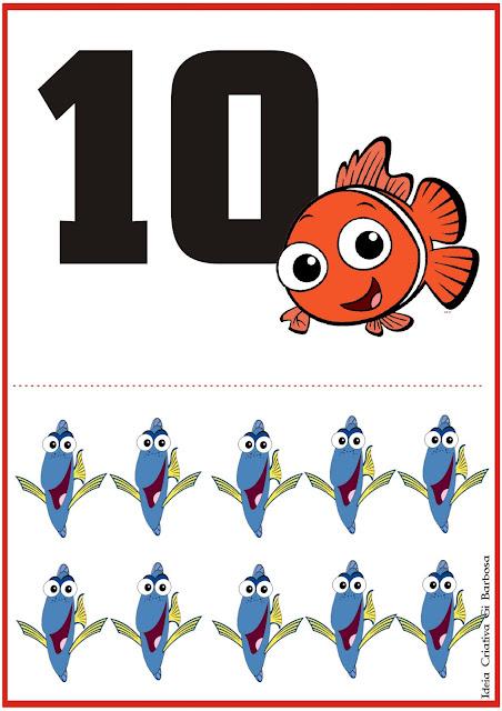 Numerais Procurando Nemo 0 a 10