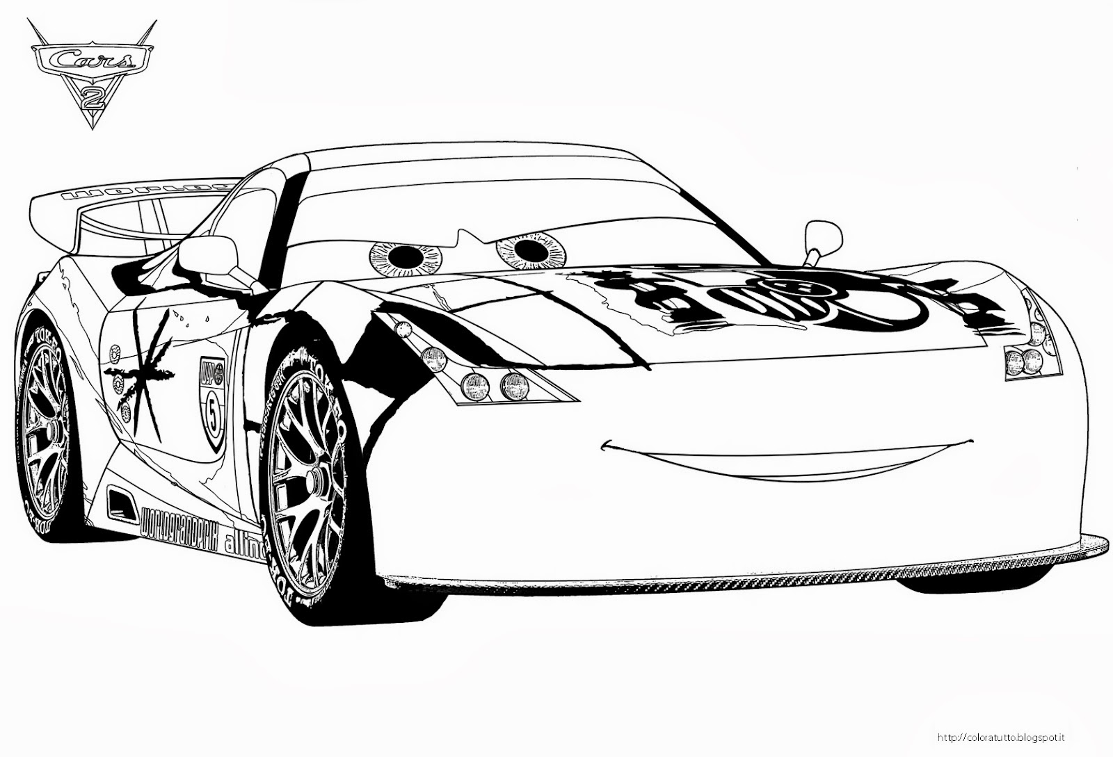 Coloring Pages Cars Games