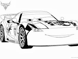Cars 2 Jeff Corvette Coloring Page
