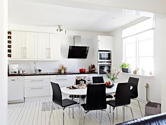 5 cocinas en blanco y negro - Cocinas en blanco ...