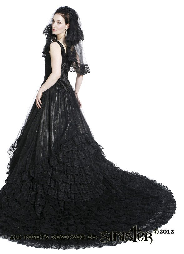 Gothic Black Wedding Dresses For  : The gothic black wedding dress by sinister