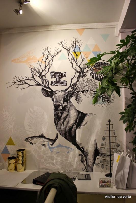 Paris / White xmasmarket / Les Mauvaises Graines / Photos Atelier rue verte /