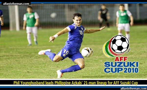 Phil Younghusband leads Philippine Azkals' 21-man lineup for AFF Suzuki Cup