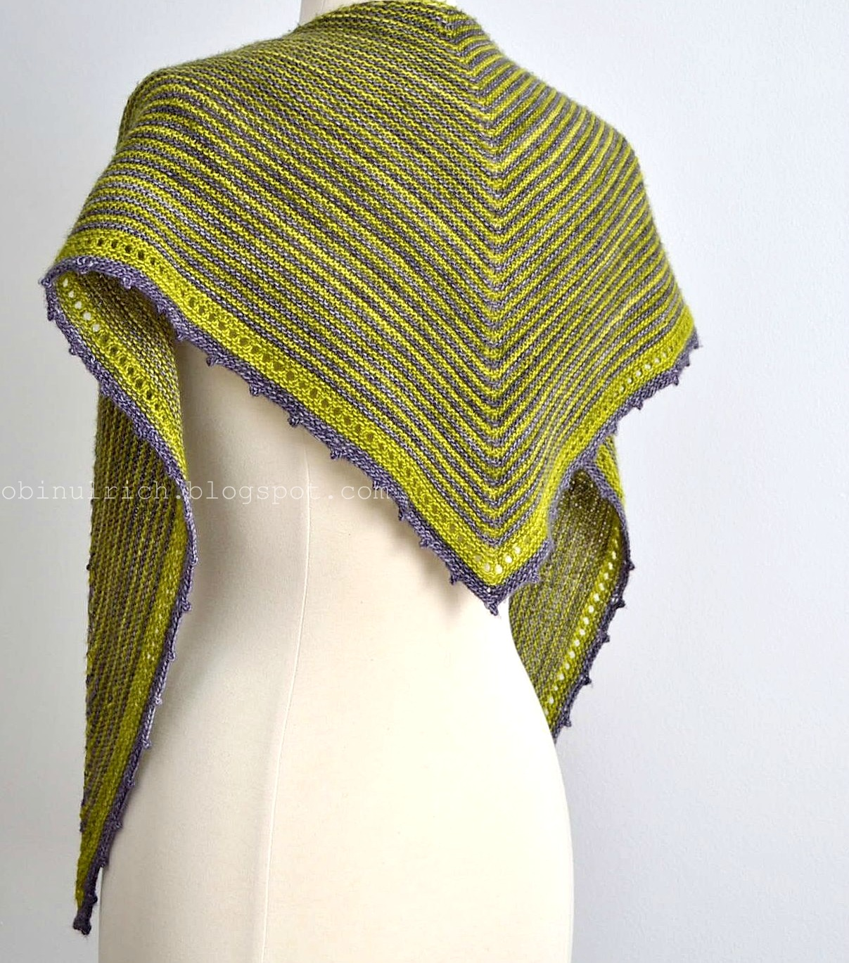 Robin Ulrich Studio: New Knitting Pattern - KATRIEL Shawl