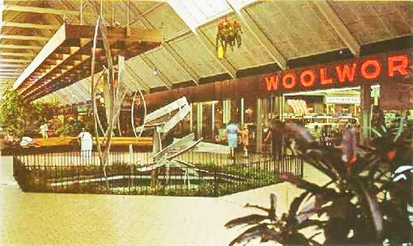 A Vintage Snapshot Of The SOUTHLAND Center Court, Which Fronted On Its F.W.  Woolworth 5 U0026 10. Photo From Malls Of America Blogspot
