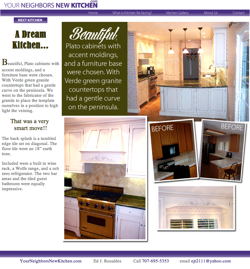 Your Neighbors New Kitchen Com Website Designed By Susan Searway Art Design