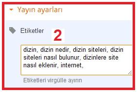 Blogger Makalelerde Etiket Kullanımı-3