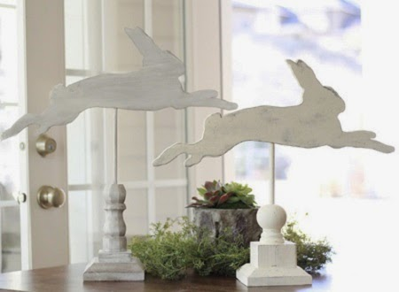Ideas para Reciclar Madera por Pascua, Conejos