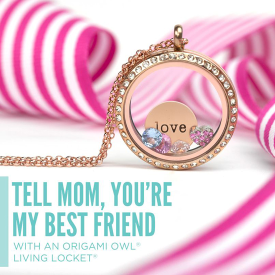 Tell Someone You Love Them Origami Owl Living Locket from StoriedCharms.com