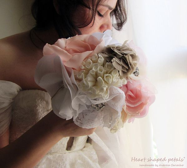 Bridal bouquets shabby chic