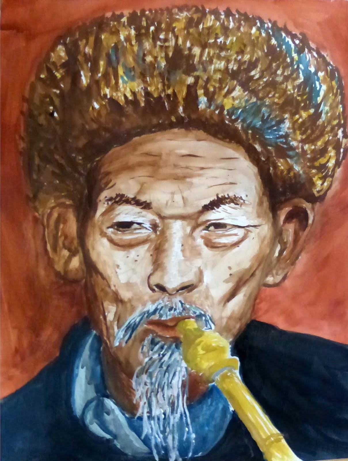 P. Chine - gouache