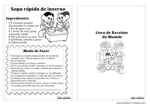 Livro de Receita Dia das Mães Ideia Criativa