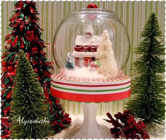Glass House Ornament   $1.00. Little Snowman   $1.00. Little Trees   $1.00.  Christmas Scrapbook Paper. Cotton Balls White Snow Glitter White Spray Paint