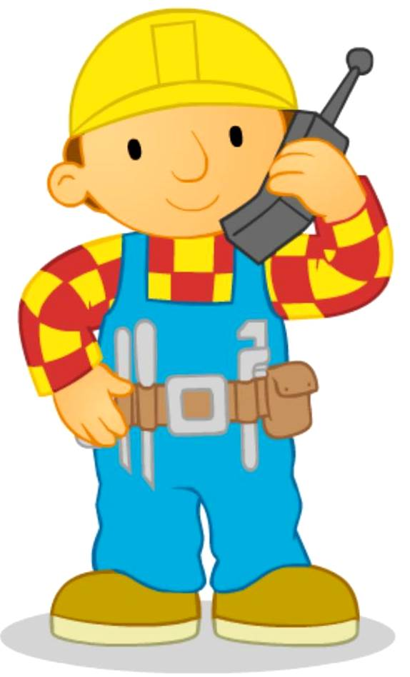 Bob El Constructor llamando por teléfono