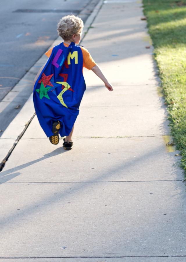 toddler diy super hero cape kit