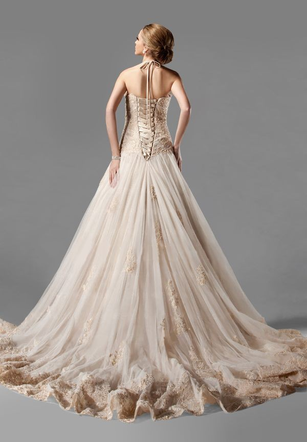 Elegant Wedding Dresses Images : More elegant wedding dresses tulle halter a line dress