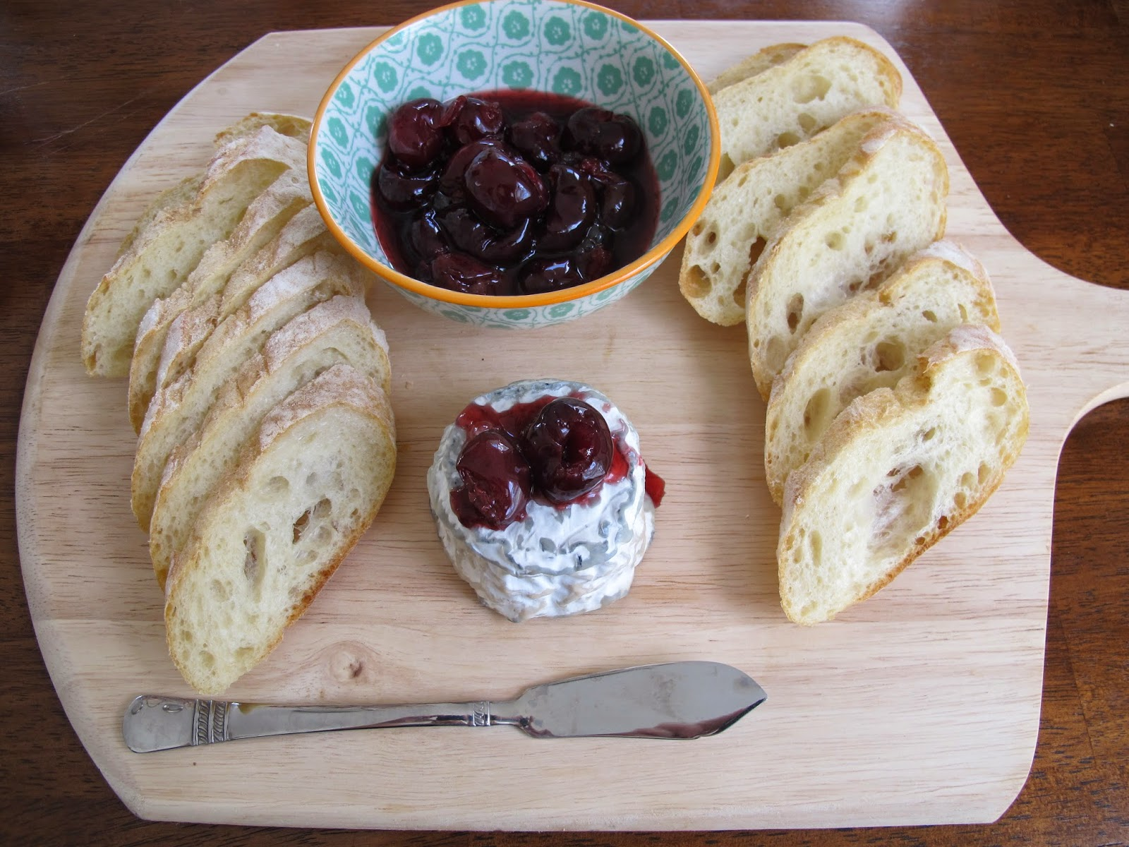 A.O.C. Poached Cherries with Goat Cheese