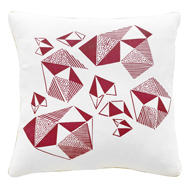 Pattern Play Cushion in Fushia