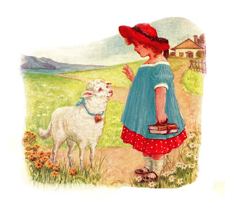 girl lamb nursery rhyme image