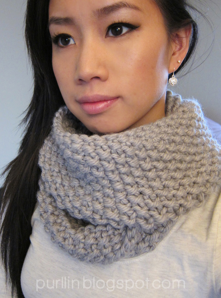 Knit Infinity Scarf Patterns : Purllin: December Seed Stitch Infinity Circle Scarf [ free ...