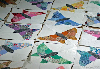 Butterfly Quilt English Piecing Blocks
