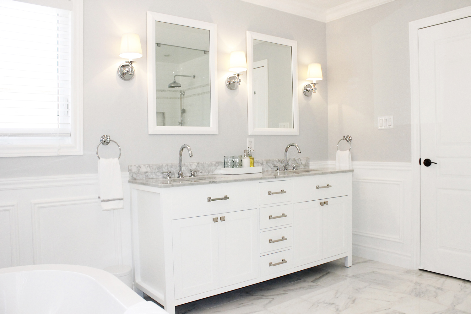 Good Contemporary bathroom vanity choosing glass material to furnish your bathroom