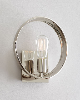 modern light, chrome