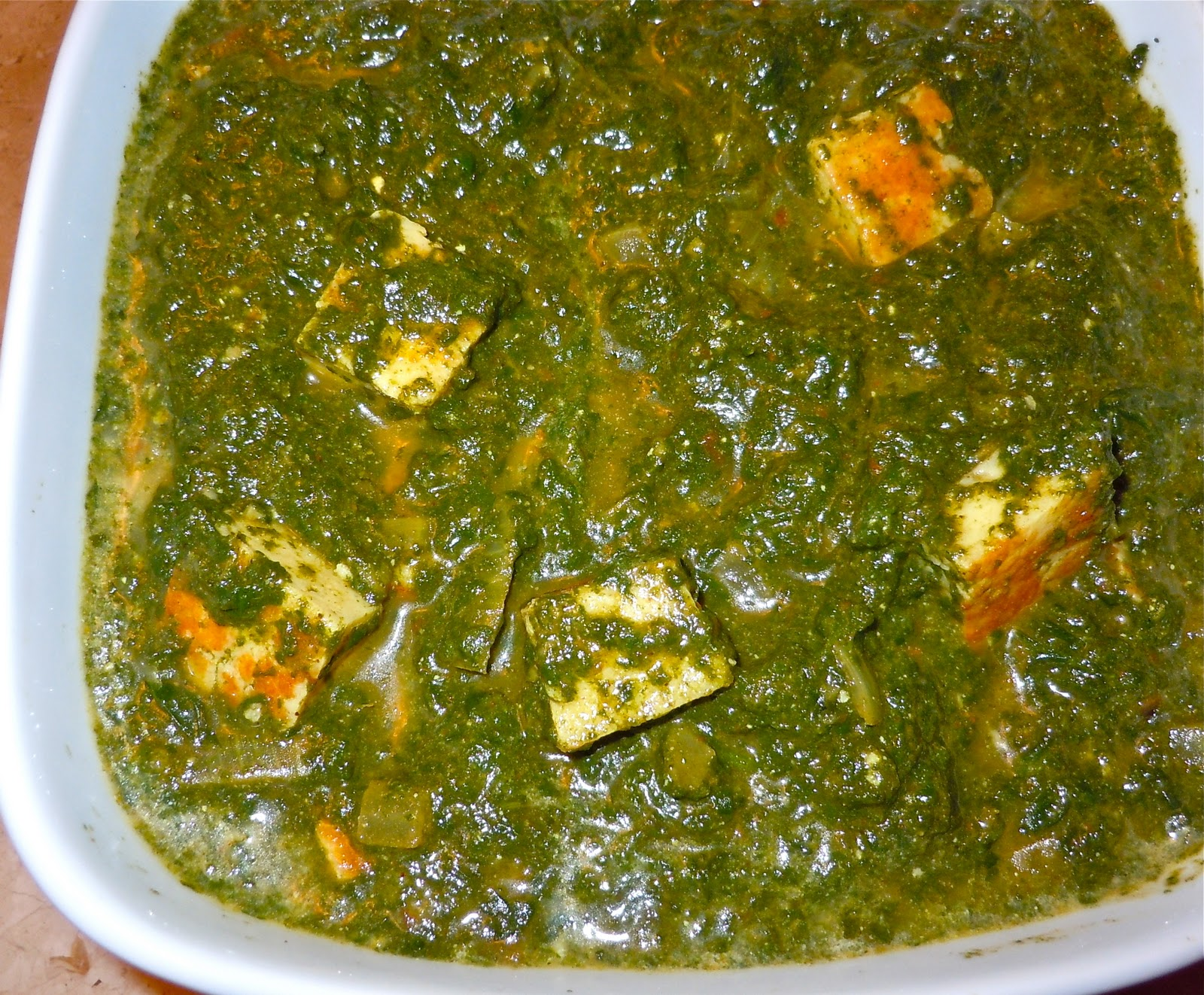 Palak Paneer (Spinach with Home Made Cheese) | Rashmi's Recipes