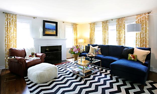thick bold zig-zag striped rug