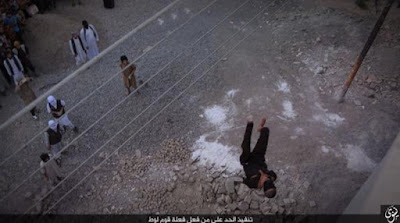 Gay man thrown off a building top by ISIS militants in Iraq on Oct. 5, 2015