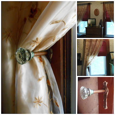 DIY, Curtains, tie back, upcycle, recycle, roman shades, repurposed