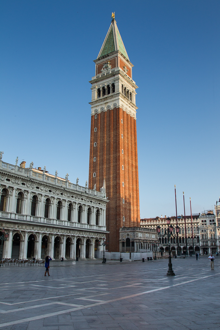 The Campanile dominates the square