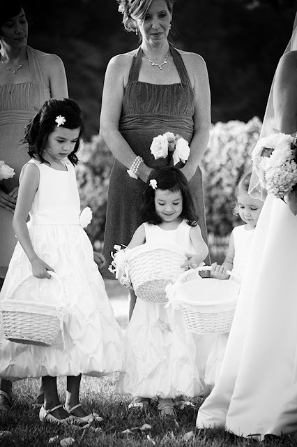 Flower Girls During Wedding Ceremony Doukenie| Whysall Photography
