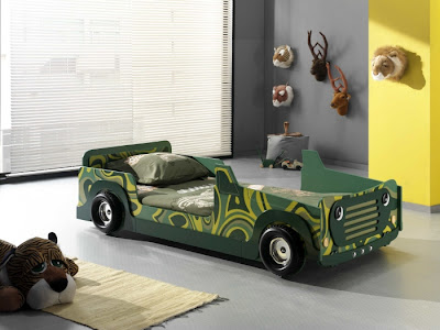 cama coche para niños