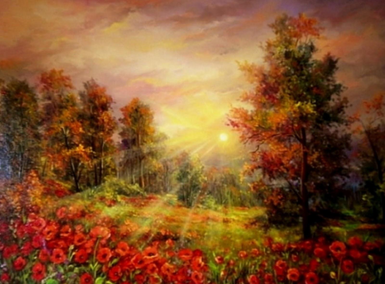 Cuadros modernos pinturas y dibujos cuadros paisajes - Cuadros modernos con mucho color ...