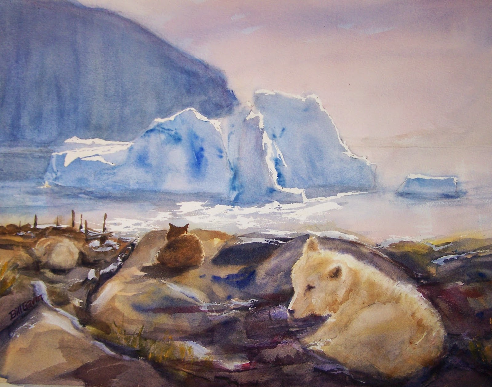 http://paintingsadayorsoforsale.blogspot.com/2015/04/greenland-transparent-watercolor-16-x.html