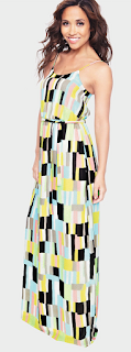 Chiffon, Geometric Print, Maxi Dress, Multicoloured, Myleene Klass, Myleene Klass For Littlewoods, Print, Scoop Neck, Shape Print, Sleeveless, Tie Waist, Waist Belt, Waist Detail
