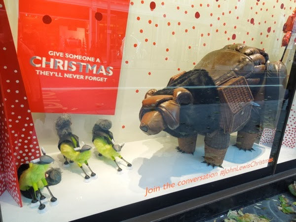 John Lewis Bear Christmas window Peter Jones