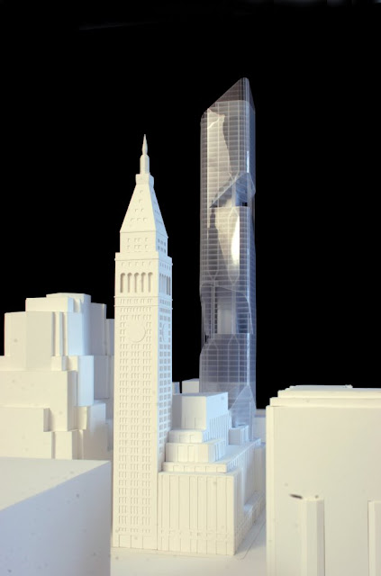 Model of new New York tower in the skyline by Daniel Libeskind