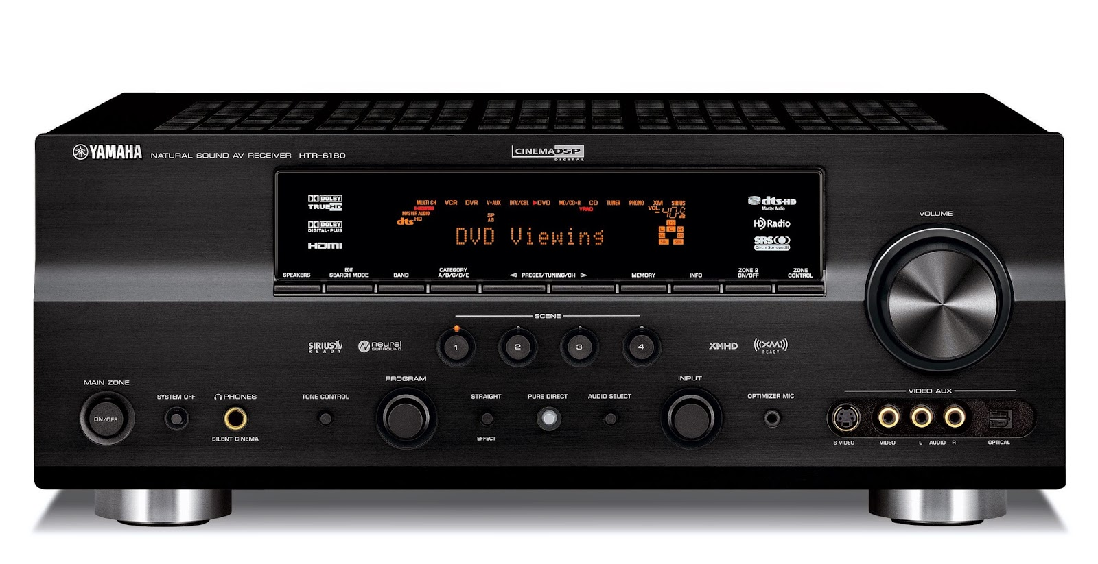 yamaha htr 6180 av receiver audiobaza