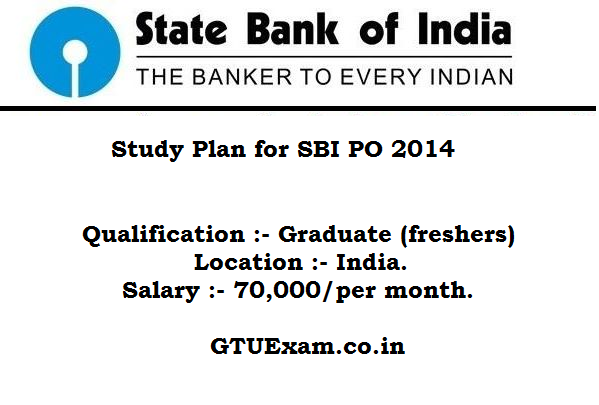 SBI PO 2014 Study Plan - Subject Wise Study Tips