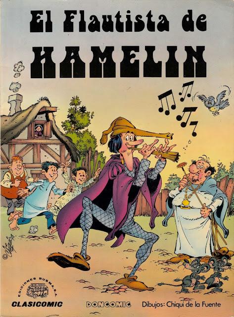 El Flautista de Hamelin. Chiqui de la Fuente. Escaneo inédito de Doncomic.