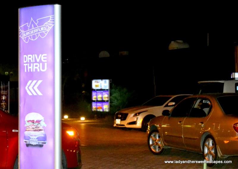 BurgerFuel drive thru at Jumeirah Beach Road