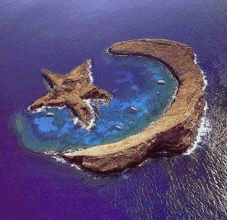 Island of Molokini - natural star