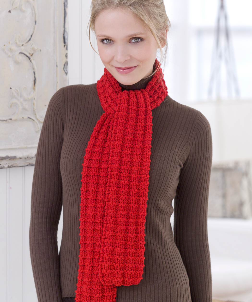 Knitted Scarves Patterns : Rede Mode: Scarves-knitting patterns